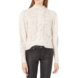 NWOT Rebecca Taylor Cable Knit Speckled Sweater